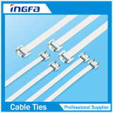Ataduras de cables ajustables completamente revestidas del acero inoxidable con la hebilla