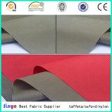 최신 판매 양이온 털실 PU 학교 부대를 위한 입히는 FDY 자카드 직물 도비 직물