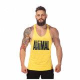 Venta al por mayor colorida de la camiseta del larguero de la impresión de la gimnasia del Mens