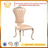 Banquet en acier inoxydable moderne de l'or chaise de salle à manger pour les mariages fabriqués en Chine