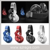 Sustentação sem fio estereofónica do auscultadores dos auriculares de Bluetooth V4.1 do T2 APP-Controlada