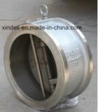 Klep van de Controle van het Roestvrij staal van de Plaat 150lbs van het Wafeltje van de fabriek de Dubbele