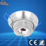El ángulo interior de aluminio ajustable Spot Lámpara de techo LED de luz hacia abajo