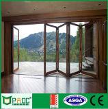Puerta de plegamiento de aluminio revestida del polvo