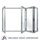 Portello di piegatura di alluminio su ordinazione di vetratura doppia