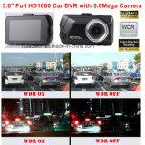 """熱い3.0 """" 5.0mega車のカメラ、Gセンサー、動きの検出、夜間視界、WDR DVR-3001が付いている完全なHD1080p車DVR"""