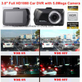 "Caliente 3.0 ""Full HD1080p coche DVR con cámara de coche 5.0mega, G-sensor, detección de movimiento, visión nocturna, WDR DVR-3001"