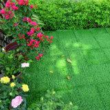 Carrelage en plastique artificiel de verrouillage d'herbe pour l'aménagement de jardin