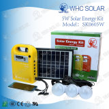 5 Вт портативный мини-солнечные фотоэлектрические системы с 3 светодиодных ламп