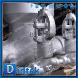 Válvula de puerta del acero de aleación del engranaje de gusano de la fábrica de Didtek China con la válvula de derivación