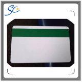 PVC en blanco tarjeta colorida de rayas magnéticas