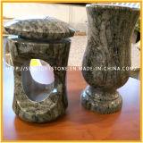 De veelkleurige Funerary Vaas van de Bloem van het Rood/van het Graniet Gree/Paradiso voor Grafsteen & Grafzerk