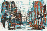 Af:drukken van het Canvas van de Decoratie van de architectuur het Abstracte