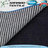 Il filo di cotone 100 ha tinto il tessuto lavorato a maglia della cialda del denim