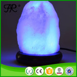 夜ライトが付いている白い水晶ヒマラヤ塩ランプ