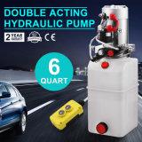12V unité de puissance en plastique hydraulique de pompe de levage de véhicule de 6 quarts