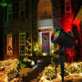 着色される新しい明るくRGBは夜星のクリスマスの景色のレーザー光線の星明かりのシャワーをつける