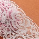 Merletto poco costoso del fiore viola all'ingrosso della maglia