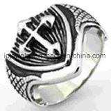 Ring van het Roestvrij staal van de Ring van Mens van de douane de Dwars