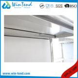 Stazione di lavoro robusta della cucina della costruzione di rinforzo mensola rotonda del tubo dell'acciaio inossidabile con il piedino registrabile di altezza da vendere