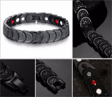 Maillon de chaîne sain de noir de bracelet d'énergie pour les hommes