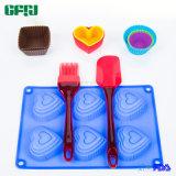 Силиконовая форма для выпечки инструменты набор маффин торт, сердце пирог и зачистки, Буш