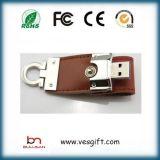Memoria de cuero del USB del mecanismo impulsor del flash del USB
