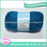 아기 스웨터 공간에 의하여 염색되는 공상 아크릴 뜨개질을 하는 털실