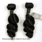 Бразильские волосы неги человеческих волос цвета черноты волны волосяной спиральной пружинки девственницы