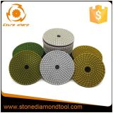 화강암과 대리석 돌을%s 닦는 패드 지면 다이아몬드 패드
