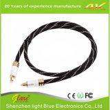 Câble optique Toslink audio numérique en alliage doré