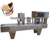 Máquina de relleno del lacre del chocolate de la taza de la galleta del palillo