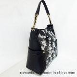 De promotie Zak van het Leer van de Druk van de Bloem van de Vrouwen van de Handtassen van Dames Pu (LY060279)