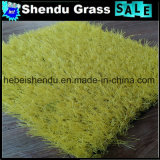Tapete artificial da baixa grama da altura 20mm com cor amarela