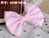 Accessoires d'animal familier d'épingle à cheveux de Bowtie de lacet de rose de mode de modèle beaux