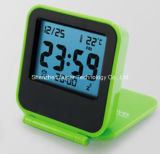 LCD portátil plegable del recorrido reloj despertador digital