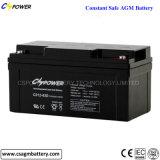 Batería sellada frecuencia intermedia del AGM de la batería de plomo 12V 65ah de Cspower