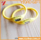 Custom Logo LED Silicone Bracelet en caoutchouc et bracelet en silicone (YB-HD-117)