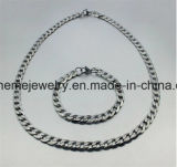 De Dikke Ketting van het Roestvrij staal van de Diamant van de Stroom van de Halsband van de Mensen van de Juwelen van Shineme (SSNL2618)