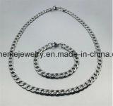 Shineme 보석 남자의 목걸이 교류 다이아몬드 스테인리스 두꺼운 사슬 (SSNL2618)