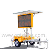 Panneau portatif de signe de VMs de remorque du message variable solaire DEL de circulation