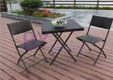 옥외 접히는 PE 등나무 여가 커피용 탁자와 의자 조합 세트