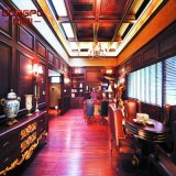 Villa Luxury Living Room Interior Painel de parede de madeira (GSP11-007)
