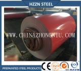 Prepainted bobinas de acero galvanizado de color amarillo