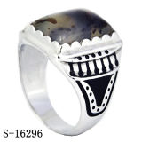 El árabe de plata de 925 modelos nuevos de la joyería labra los anillos de los hombres con la piedra natural