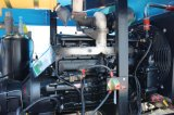 4wheelsディーゼル機関高圧携帯用回転式ねじ空気圧縮機中国製