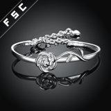 Romantisches Verbrennung-Schmucksache-Silber überzogenes Rosen-Armband für Mädchen