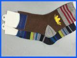 Streifen-Breathable weiche Baumwollbeiläufige Socken der Männer
