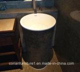 Твердой поверхностной тазик мытья стойки гостиницы определенный размер таможней свободно
