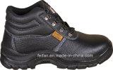 Cuero en relieve + medias zapatos de Pusafety con tobillo alto y tobillo bajo